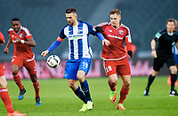 v.l. Vedad Ibisevic (Berlin), Max Christiansen<br /> Berlin, 04.02.2017, Fussball Bundesliga, Hertha BSC Berlin - FC Ingolstadt 04 1:0<br /> <br /> Norway only