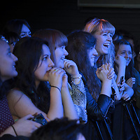 Excitement builds as the crowd wait for Darwin Deez (real name Darwin Smith)and his band to perform live at Sound Control, Manchester, 2013-02-15