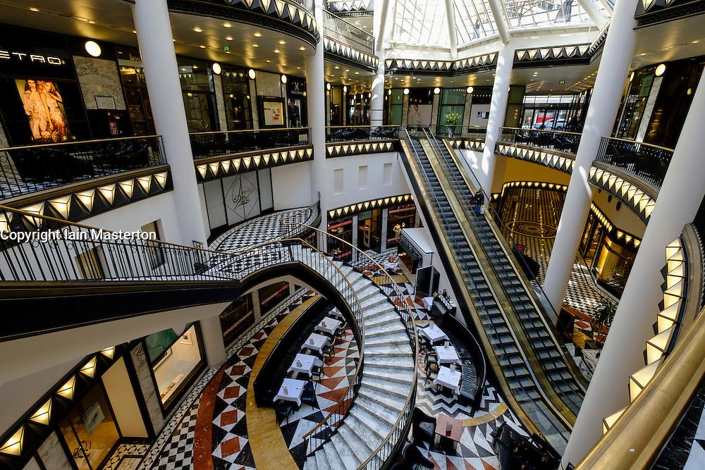 Interior of upmarket Quartier 206 shopping mall in Berlin