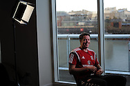 Wayne Hennessey of Wales talks to the media during the Wales football player media session at the St.Davids Hotel in Cardiff Bay , South Wales on Thursday 14th November 2013. pic by Andrew Orchard, Andrew Orchard sports photography,