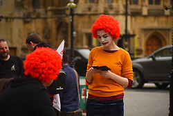 September 4, 2017 - London, United Kingdom - McDonalds fastfood wokers protest over working conditions and the use of zero-hour contracts, in London on September 4, 2017. McDonald's faces its first strike since it opened in the UK in 1974, as well as protests by unions and the public at several restaurants over pay and working conditions. (Credit Image: © Alberto Pezzali/NurPhoto via ZUMA Press)