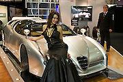 Moscow, Russia, 28/09/2005..The first Millionaire Fair in Moscow at the Crocus City Expo Centre attracted thousands of would-be and existing Russian millionaires to view and purchase a wide range of luxury goods. Unique Alfa Romeo Scighera for sale at $925,000..