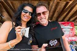 Steve Soffa presents a special watch for auction at the Naswa Resort for the Peter Makris Memorial Ride during Laconia Motorcycle Week. Laconia, NH, USA. June 13, 2015.  Photography ©2015 Michael Lichter.
