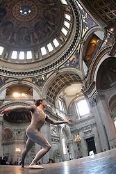 "© Licensed to London News Pictures. 03/07/2012. London, England. The English National Ballet performing the World Premiere of ""Of A Rose"" choregraphed by Antony Dowson at St. Paul's Cathedral (dress rehearsal). Photo credit: Bettina Strenske/LNP"