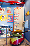 """An old W. F. Mangels """"Whip"""" car in the Coney Island Museum."""