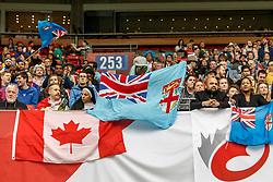 March 10, 2018 - Vancouver, British Columbia, U.S. - VANCOUVER, BC - MARCH 10: Fiji crowd during Game # 4- Fiji vs Spain Pool C match at the Canada Sevens held March 10-11, 2018 in BC Place Stadium in Vancouver, BC. (Photo by Allan Hamilton/Icon Sportswire) (Credit Image: © Allan Hamilton/Icon SMI via ZUMA Press)