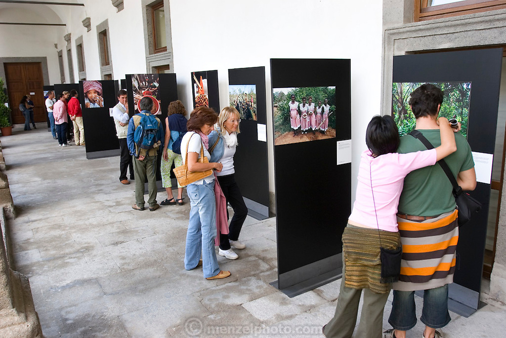 """Peter Menzel's photo exhibition, """"Man Eating Bugs: The Art and Science of Eating Insects"""" in Viterbo, Italy. (First International Biennial of Photography on Science and Culture) Viterbo Italy."""