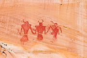 Pictograph panel on canyon wall along Calf Creek, Grand Staircase-Escalante National Monument, Utah USA
