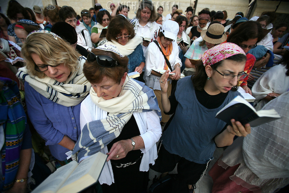 Jewish women of the Women of the Wall organization pray at the Western Wall Judiasm s holiest site in Jerusalem's Old City. Anat Hoffman, One of the leaders of the Reform movement in Israel was arrested for holding a Torah scroll near the Western Wall, which was forbidden by an Israeli high court's decision... Women of the Wall is a group of mostly religiously observant women who believe that women should be allowed to pray as a group at the Western Wall read from a Torah scroll and wear prayer shawls and phylacteries that in orthodox Judaism are used only by men.