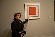 IWONA MALEWICZ IN FRONT OF WORK BY HER FATHER KAZIMIR MALEVICH. Opening of 'From Russia' Royal Academy of arts. Picadilly. London. 22 January 2008. -DO NOT ARCHIVE-© Copyright Photograph by Dafydd Jones. 248 Clapham Rd. London SW9 0PZ. Tel 0207 820 0771. www.dafjones.com.