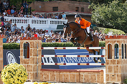 Greve Willem (NED) - Carambole<br /> Furusiyya FEI Nations Cup Jumping Final <br /> CSIO Barcelona 2013<br /> © Dirk Caremans