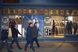 Black Friday, Norwich UK 29/11/19. Moss Bros shop