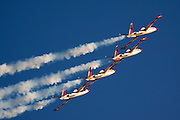 Israeli Air force (IAF) Fouga Magister CM-170 in aerobatics display