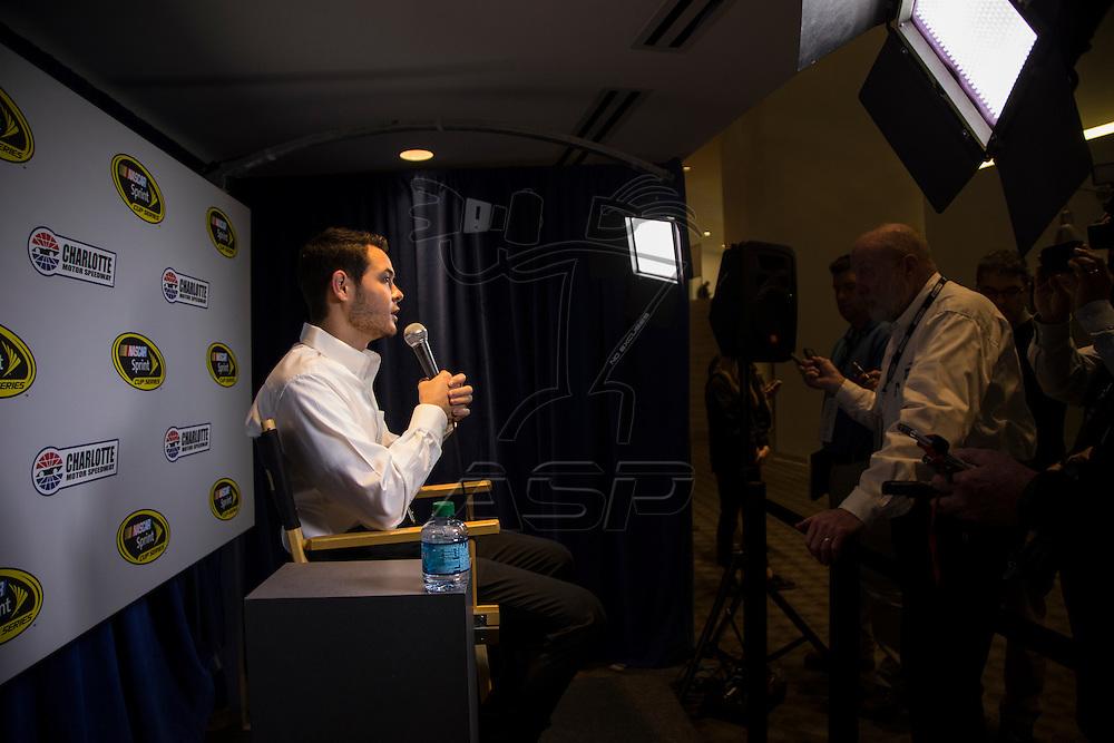 Charlotte, NC - Jan 21, 2016: Chip Ganassi Racing hosts day 3 of the Charlotte Media Tour in Charlotte, North Carolina