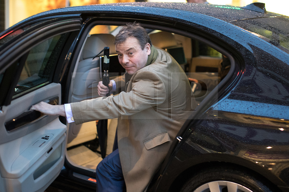 © Licensed to London News Pictures . 06/02/2017. Stoke-on-Trent, UK. ARRON BANKS seen getting in to his car in Hanley this afternoon , 6th February 2017 . Former UKIP leader Nigel Farage will join current leader Paul Nuttall at a public meeting at Victoria Hall in Hanley , during Nuttall's campaign to win the seat of Stoke-on-Trent Central . Photo credit: Joel Goodman/LNP