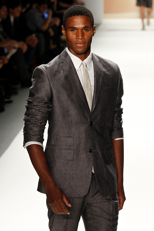 Models walk the runway for Perry Ellis Spring 2012 fashion show during New York Fashion Week, NYC, NY, USA. 12/09/2011 Kevin Kane/CatchlightMedia