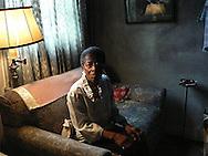 Elderly woman in her home in Montgomery, Alabama. 2010