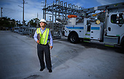 Utility Supervisor portrait as part of an employee pride campaign. Image taken on location at a substation.
