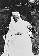 Harriet Tubman (c.1820-1913) African-American born in slavery, escaped 1849, and became leading Abolitionist. Activeas a 'conductor' in the Underground Railroad. Photograph as an old woman.