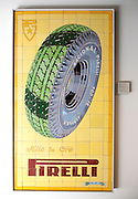 Display Pirelli advertisement ceramic tile museum, Centro Ceramica, Triana, Seville, Spain