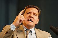07 OCTOBER 1995, GERMANY/BERLIN:<br /> Gerhard Schröder, SPD, Ministerpräsident Niedersachsen, hält eine Rede, Kundgebung auf dem Alexanderplatz zum 50. Jahrestag der Wiedergründung der SPD<br /> Gerhard Schroeder, Federal Chanellor of Germany<br /> IMAGE: 19951007-02/03-15