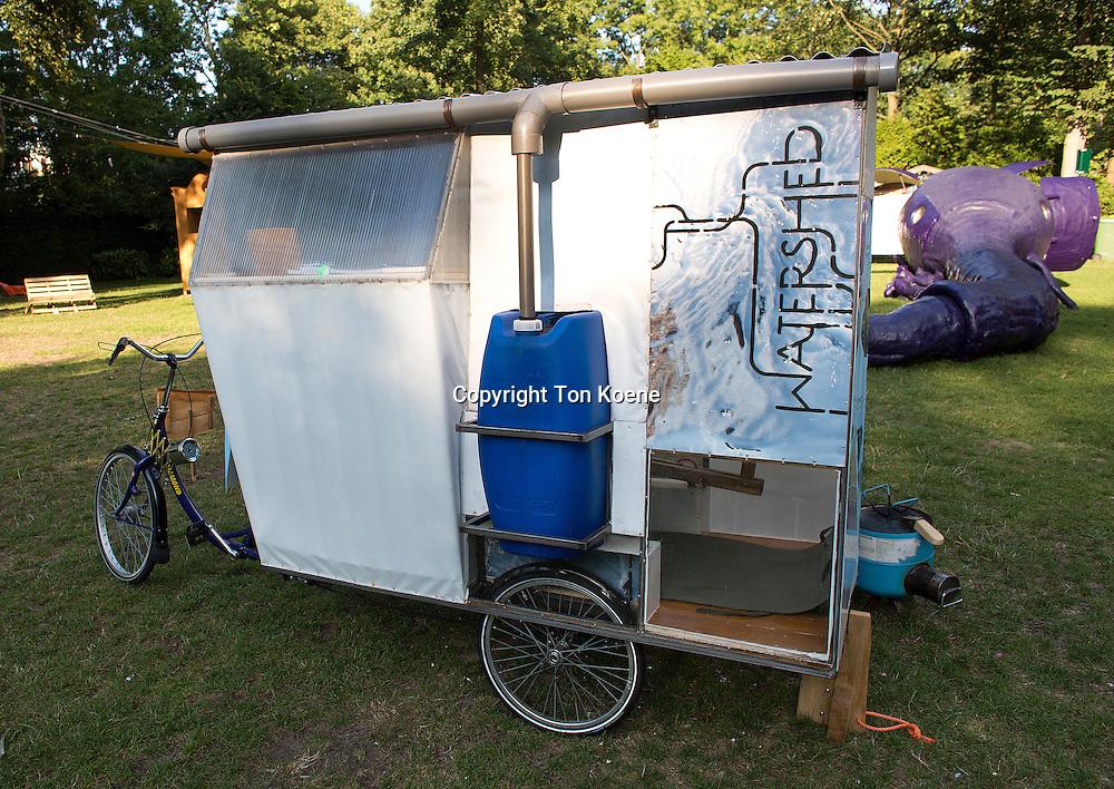Alternative artist camping in Amsterdam