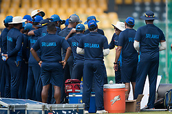December 28, 2017 - Colombo, Western Province, Sri Lanka - Newly Appointed Head coach  Chandika Hathurusingha talking to the National team before the starts of practices session (Credit Image: © Sameera Peiris/Pacific Press via ZUMA Wire)