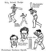 Notes for an Indian Summer ; Indian cricket tour <br /> Indian team ;  Polly Ratanji Umrizar , Hiralal Ghasulal Gaekwad , Chandrashekhr Trimbak Sarwate , Coimbattareo Doraikannu Gopinath , Vijay Laxman Manjrekar and Probin Sen