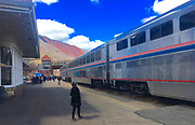 Amtrak Zephyr at station in Glenwood CO