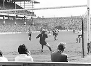 Kerry kicks the ball towards the goal during the Kerry v Dublin All Ireland Senior Gaelic Football Final in Croke Park on the 24th of September 1978. Kerry 5-11 Dublin 0-9.