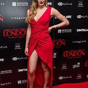 Georgie Clarke Arrivers at Once Upon a Time in London - London premiere of the rise and fall of a nationwide criminal empire that paved the way for notorious London gangsters the Kray Twins and the Richardsons at The Troxy 490 Commercial Road, on 15 April 2019, London, UK.