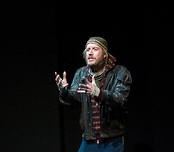 Protest Song <br /> by Tim Price<br /> at The Shed Theatre, National Theatre, London, Great Britain <br /> press photocall<br /> 19th December 2013 <br /> <br /> <br /> directed by Polly Findlay <br /> <br /> Rhys Ifans as Danny <br /> <br /> <br /> <br /> <br /> <br /> Photograph by Elliott Franks