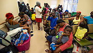 At the Marsh Harbour Health Center in Abaco, people seek shelter after evacuating their homes during Hurricane Dorian in the Bahamas on Wednesday, September 4, 2019