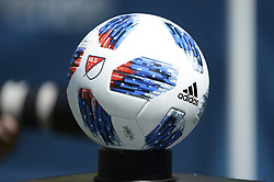 May 26, 2018 - Seattle, Washington, U.S - MLS Soccer 2018: MLS game ball during the pre-match ceremony as Real Salt Lake visits the Seattle Sounders in a MLS match at Century Link Field in Seattle, WA. (Credit Image: © Jeff Halstead via ZUMA Wire)