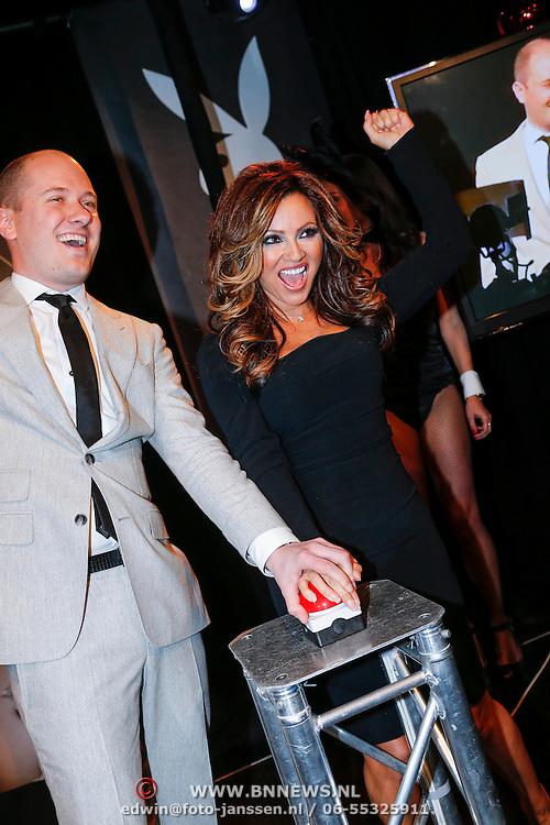 NLD/Amsterdam/20121206 - Onthulling Playboy Tatjana Simic kalender, hoofdredacteur Playboy en Tatjana