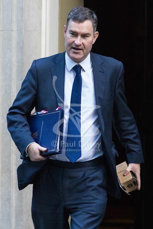 London, January 16 2018. Justice Secretary David Gauke leaves the UK cabinet meeting at Downing Street. © Paul Davey