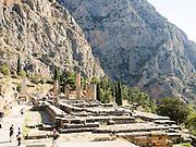 Temple of Apollo st Delphi UNESCO World Heritage Site Greece Europe
