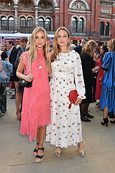 Lady Amelia Windsor and Lady Marina Windsor at the Victoria & Albert Museum's Summer Party in partnership with Harrods at The V&A Museum, Exhibition Road, London, England. 20 June 2018.