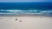 Empty Beaches in Huntington Beach Due to Government Shutdown