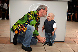 File photo - Terry Gilliam and Verne Troyer pose at the photocall of 'The Imaginarium of Doctor Parnassus' held at the Palais Des Festivals in Cannes, France, on May 22, 2009, as part of the 62nd Cannes Film Festival. Verne Troyer, who is best known for playing Mini-Me in the Austin Powers films, has died at the age of 49. Troyer, who was 81cm tall, also played Griphook in the first Harry Potter film. Photo by Lionel Hahn/ABACAPRESS.COM