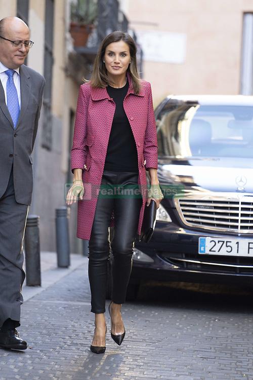 October 4, 2018 - Madrid, Spain - Queen Letizia of Spain attends the conference 'Iniciativas de Formacion y Empleo para jovenes' at Red Cross headquarters on October 4, 2018 in Madrid, Spain. (Credit Image: © Oscar Gonzalez/NurPhoto/ZUMA Press)