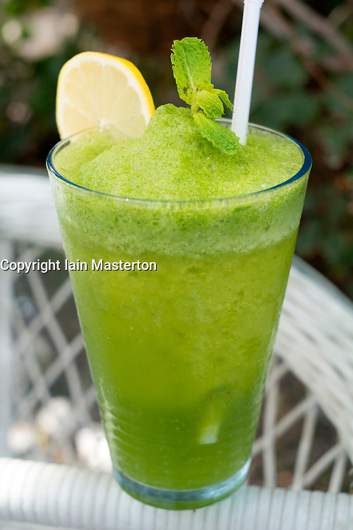 Traditional Lemon and mint drink popular refreshment  in in the Middle East