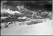 "Ackroyd 03525-25. ""Aerials, April 3, 1952, Portland Gas & Coke"" (Linnton, Gasco, Guilds Lake, Wacker Siltronic)"