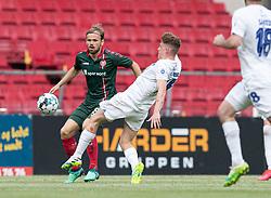 Iver Fossum (AaB) og Pep Biel (FC København) under kampen i 3F Superligaen mellem FC København og AaB den 17. juni 2020 i Telia Parken, København (Foto: Claus Birch).