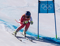 February 17, 2018 - PyeongChang, South Korea -  LARA GUT of Switzerland during Alpine Skiing: Ladies Super-G at Jeongseon Alpine Centre at the 2018 Pyeongchang Winter Olympic Games. (Credit Image: © Patrice Lapointe via ZUMA Wire)
