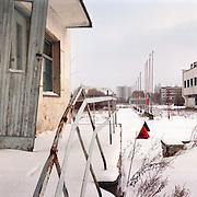 05-03-1996-Oekraine, Tsjernobyl. De verlaten satd Pripyat waar 20 jaar geleden een ontploffing ontstond in een kernreactor. Dit met gevolge dat er een kernramp onstond en het gebied tot op de dag van vandaag eigenlijk niet bewoonbaar is.<br />Foto: Sake Elzinga/Hollandse Hoogte