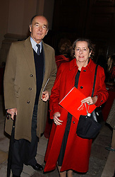 JOSEPH CZERNIN and his wife LADY HOWARD DE WALDEN at Carols from Chelsea in aid of the Institute of Cancer Research at the Royal Hospital Chapel, Chelsea, London on 1st December 2005.<br />