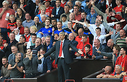 FILE PHOTO: Arsene Wenger is to leave Arsenal at the end of the season, ending a near 22-year reign as manager<br /><br />Arsenal's manager Arsene Wenger goes to the stands after being sent off the touchline by the referee ... Soccer - Barclays Premier League - Manchester United v Arsenal - Old Trafford ... 29-08-2009 ... Manchester ... United Kingdom ... Photo credit should read: Adam Davy/EMPICS Sport. Unique Reference No. 7754888 ...
