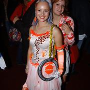 Uitreiking Kids Choice Awards 2004, Monique van der Werff en Juliette van Aardenne