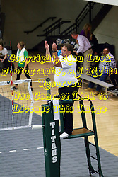 28 October 2016:  Bob Poyer during an NCAA womens division 3 Volleyball match between the DePauw Tigers and the Illinois Wesleyan Titans in Shirk Center, Bloomington IL
